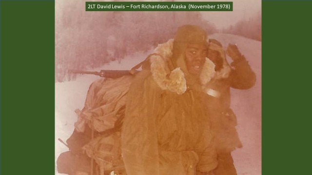 As a young Army officer with the 9th Infantry Division, 2nd Lt. David Lewis led a platoon of 44 enlisted Soldiers through training exercises to prepare for a deployment to Vietnam. One of those was Operation Jack Frost at Fort Richardson, Alaska, which focused on joint operations and training in an Arctic environment. (Courtesy Photo)