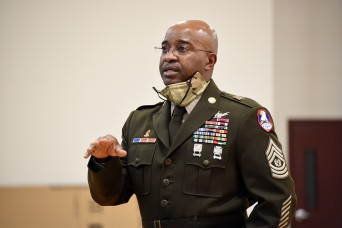 SMDC senior enlisted leader talks life skills with college ROTC cadets
