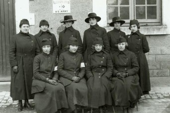 Bilingual women served as telephone operators in support of First Army during World War I