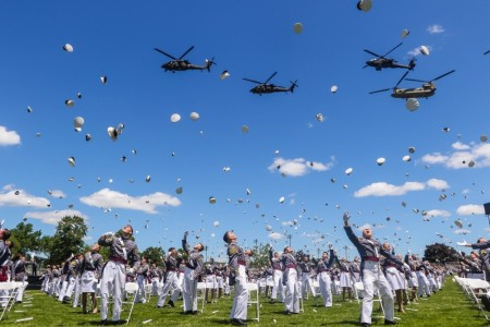 The U.S. Military Academy at West Point held its graduation and commissioning ceremony for the class of 2020 on The Plain in West Point, New York, June 13, 2020. While the academy has made strides against corrosive issues like sexual assault and racism, it still has far more work to do, its superintendent told lawmakers March 2, 2021.