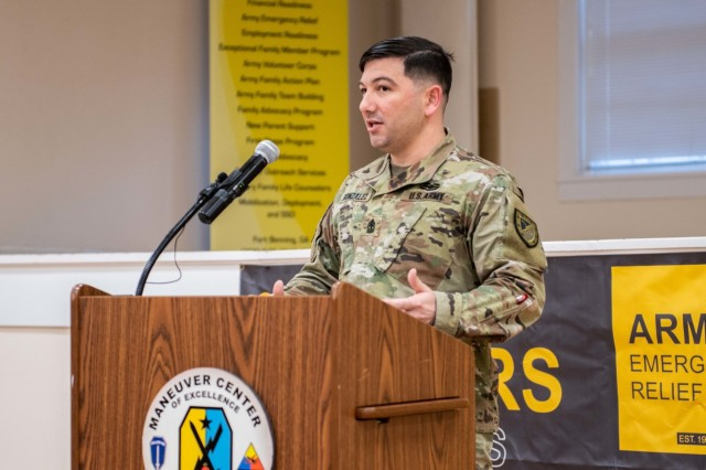 1st Sgt. Steve Gonzalez, with 316th Cavalry Regiment, said he briefs the incoming Armor Basic Officer Leader Course lieutenants on the Quick Assist Program, which helps Soldiers resolve short-term cash flow issues and deters Soldiers from using payday loans, pawn shops and title loan businesses.