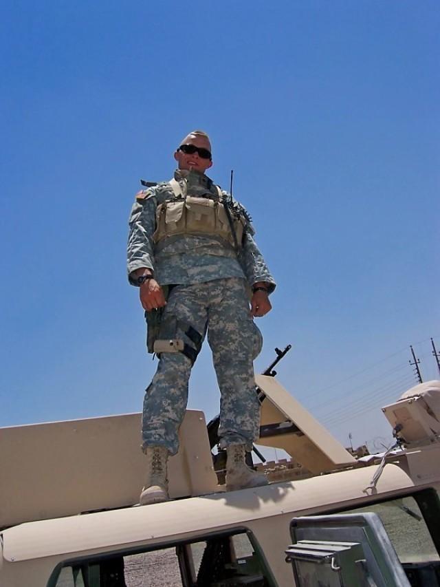 Sgt. Garrett Anderson poses while on deployment in Iraq in 2005. (Photo courtesy of Garrett Anderson)