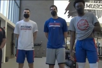 Soldiers Keep Physically Fit – Thanks to the Detroit Pistons