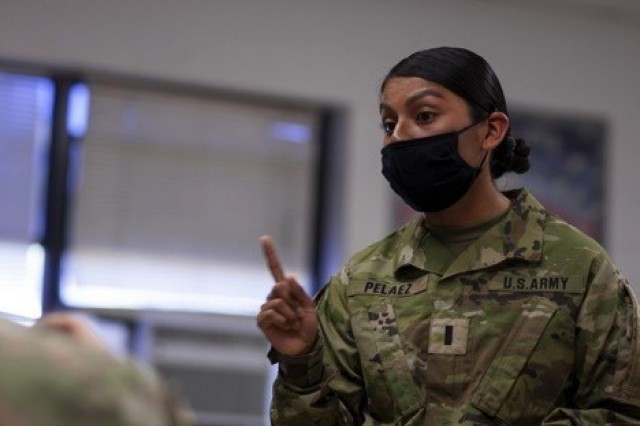 "U.S. Army 1st Lt. Diana Pelaez, a chemical, biological, radiological and nuclear defense officer assigned to the 83rd Chemical Battalion at Fort Stewart, Georgia, is from New Brunswick, New Jersey. She holds a Bachelor of Science degree in health and science from Norwich University where she participated in the Army Reserve Officer Training Corps program, and is currently working towards a master's degree in occupational or physical therapy. She commissioned in 2017, has since deployed to Korea, served as a platoon leader and stryker vehicle commander, and is now a company executive officer. ""Perception is reality so you always need to carry yourself in a professional way. Sometimes being a woman in the military is difficult and you have to say what you need to and mean what you say. Soldiers will notice leaders when they make selfish decisions so you have to put the organization first."" (U.S. Army photos by Spc. Aaron Lundgren)"
