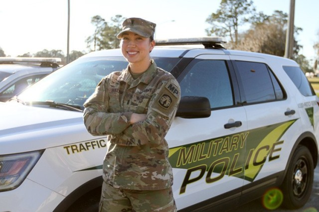 "U.S. Army 1st Lt. Jennifer Sullivan, a military police officer assigned to the 293rd Military Police Company, 385th Military Police Battalion, at Fort Stewart, Georgia, was raised in Seoul, Korea. She graduated from Patch American High School in Stuttgart, Germany, in 2013. She has a bachelor's degree in international history. ""I joined the Army because with my father serving for 30 years, I got to see up close the benefits and opportunities the military provided. I think females provide a unique and different perspective to problem-solving. There are still obstacles we have to overcome as a society, but we've come a long way. Just because I'm a female doesn't mean I don't like to get my hands dirty and fix things."" (U.S. Army photo by Spc. Daniel Thompson)"
