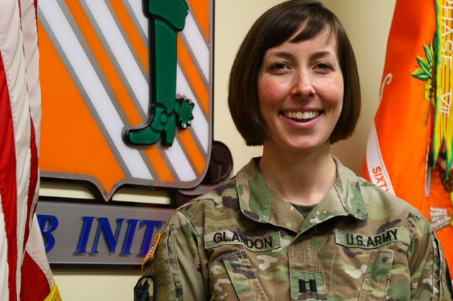"U.S. Army Capt. Molly Glandon, the battalion S1 officer-in-charge for the 63rd Expeditionary Signal Battalion at Fort Stewart, Georgia, is a native of Savannah, Georgia. She has a bachelor's degree in applied psychology and a master's of education degree in guidance and counseling from Angelo State University. Glandon entered active service as an adjutant general officer in 2015, where she attended the adjutant general officer basic course at Fort Jackson, South Carolina. ""I joined the Army as an opportunity to further my education while serving my country. As a woman in the military, I'm grateful for the recognition I've received and the opportunity I now have to continue the legacy of past and present female service members. Additionally, as a new mother, I'm excited about the current discussions surrounding revised regulatory support for pregnant and postpartum Soldiers, which will likely lead to increased female representation within our ranks."" (U.S. Army photo by Spc. Daniel Thompson)"