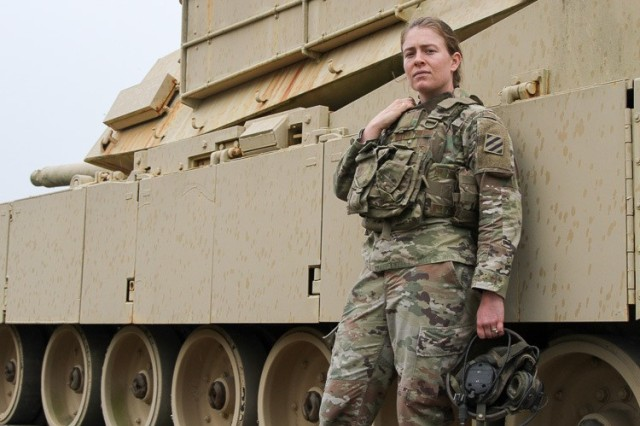 "U.S. Army 1st Lt. Carlin Keally, an armor officer in the 3rd Infantry Division at Fort Stewart, Georgia, graduated from Georgetown University in 2018 with Bachelor's degrees in both Arabic and theology. She is a native of Herndon, Virginia, where she graduated from Flinthill School in 2014. Keally spent nine months at Fort Benning, Georgia, where she completed various leadership courses. Upon arrival at Fort Stewart, she became a tank platoon leader in the 3rd Battalion, 69th Armor Regiment, 1st Armored Brigade Combat Team. She currently serves as the aide-de-camp for the deputy commanding general of readiness. ""I joined the Army to do something useful and make a difference. I love my job because of the people I work with and the camaraderie we build."" (U.S. Army photo by Spc. Daniel Thompson)"