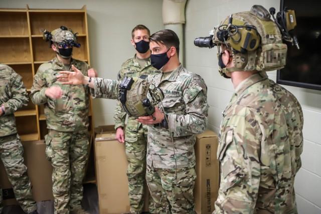 Staff Sgt. Ben Wickerham, senior medic from C Company, 3rd Battalion, 75th Ranger Regiment facilitates medical training for Ranger Unit Ministry Teams, 75th Ranger Regiment at Joint Base Lewis-McChord, Washington.