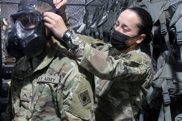 "U.S. Army Pfc. Serrina Kilburn, a chemical, biological, radiological, and nuclear specialist assigned to the 554th Engineer Construction Company, 92nd Engineer Battalion, on Fort Stewart, Georgia, was raised in Tampa, Florida. She graduated from Northeast High School in 2014. ""I joined the Army to give myself purpose. It feels really good to show that women are competent in a male-dominated career field."" (U.S. Army photo by Spc. Daniel Thompson)"