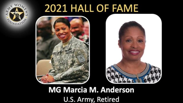 Marcia M. Anderson, the Army's first Black female Reserve officer to obtain the rank of major general, was one of the inductees into the Army Women's Foundation's hall of fame during a virtual ceremony March 8, 2021.