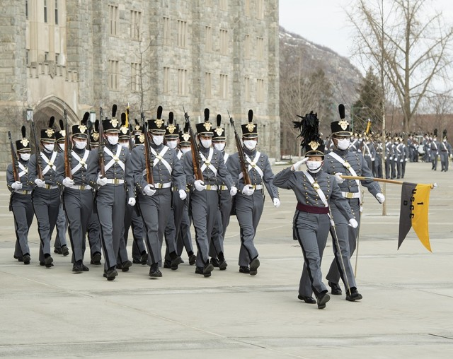 The U.S. Military Academy Class of 2024 achieved its first significant academic year milestone by celebrating Plebe Weekend Friday and Saturday at West Point. The Class of 2024 cadets march on the apron in front of Washington Hall during the Plebe Review Saturday.