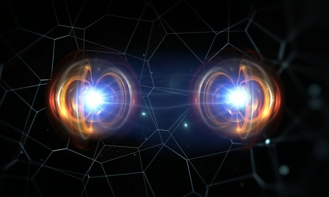 Entanglement is a correlation that can be created between quantum entities such as qubits. When two qubits are entangled and a measurement is made on one, it will affect the outcome of a measurement made on the other, even if that second qubit is physically far away.