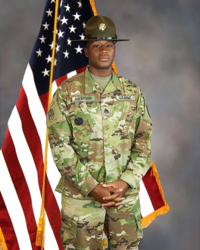 In 2016, Cadet Emmanuel Anderson volunteered to become an Advanced Individual Training Platoon Sergeant, and later a drill sergeant assigned to B. Company 551st Signal Battalion at Fort Gordon, Ga.