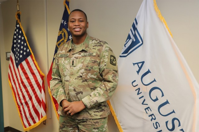 Cadet Emmanuel Anderson has worn a lot of hats - that of an enlisted Intelligence Analyst, then later as a Satellite Communications Operator and Maintainer, a drill sergeant's campaign hat, to now that of an ROTC Cadet with Augusta University.
