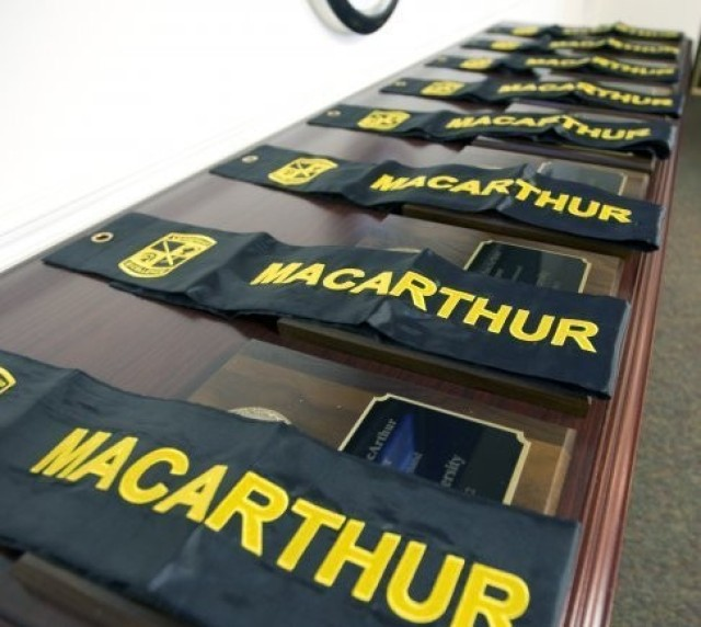 The MacArthur Award recognizes the eight schools, selected from among the 274 senior Army Reserve Officers' Training Corps (ROTC) units nationwide, as the top programs in the country.