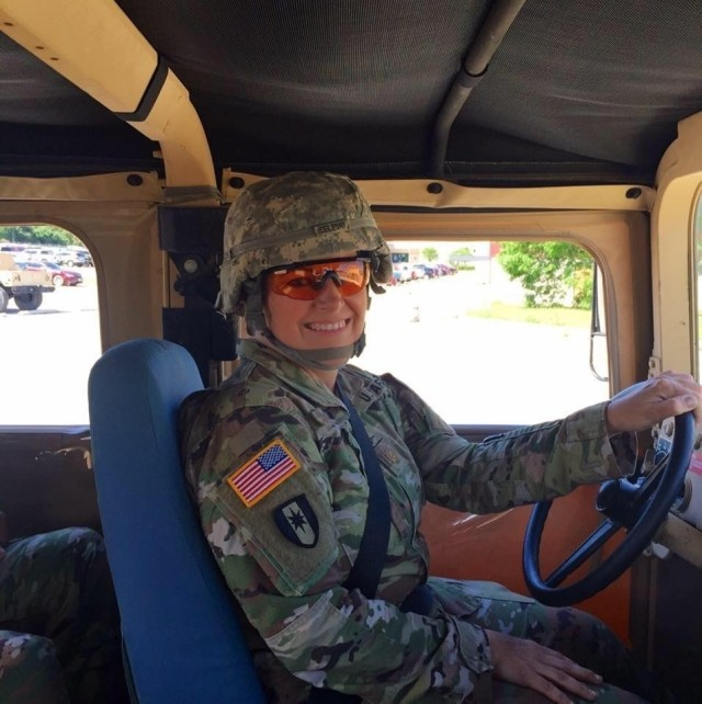 Maj. Catherine A. Celeski, an Army Reserve critical care nurse from San Antonio, Texas, receives driver refresher training at Joint Base Sam Houston, Texas in 2019. Celeski mobilized in mid-December 2020 with Urban Augmentation Medical Task Force 328-1 to assist the Yuma Regional Medical Center as part of the U.S. Northern Command's commitment, through U.S. Army North, to providing flexible Department of Defense support for the whole-of-government COVID-19 response.