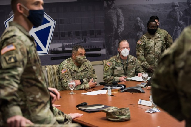 V Corps closes books on first command post exercise since reactivation