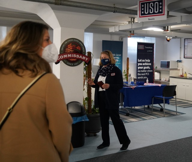 USO Bavaria Area Director Carolyn Harris provides an overview of the services and support her organization offers to Soldiers and family members within the USAG Bavaria footprint, March 11, 2021.