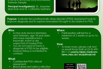 PTSD research study at Tripler Army Medical Center seeks participants