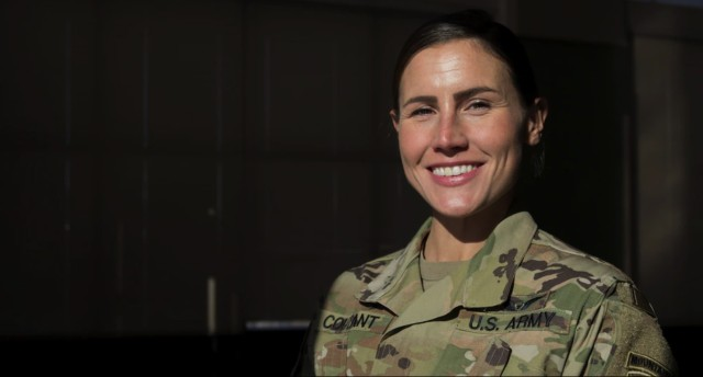 Conn. Guard's 1st female infantry officer strives to lead