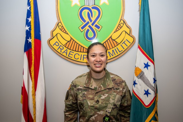Sgt. 1st Class Maria Hernandez, Soldier Support Institute, was named TRADOC AG NCO of the Year.