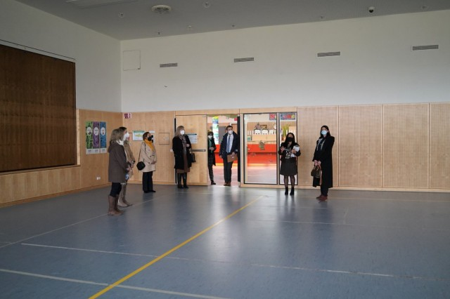 During the guided tour through the Netzaberg Child and Youth Services complex, CYS Coordinator Liwliwa Markey provided an overview of the risk mitigation protocols of HPCON B that allow gymnasium use to a limited capacity, March 11, 2021.