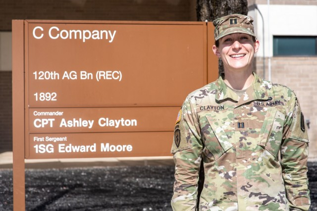 Capt. Ashley Clayton, 120th Adjutant General Battalion was named TRADOC AG Officer of the Year.