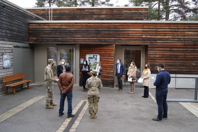 Representatives of Wild B.O.A.R. and Better Opportunities for Single Soldiers provide briefings of their programs and offerings, March 11, 2021.