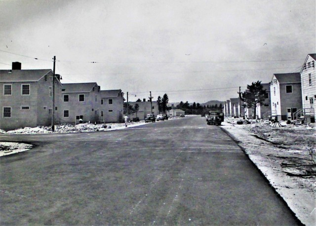 This historical Army photo shows military construction of barracks and other buildings on the 200 block of the cantonment area July 20, 1942, at Fort McCoy, Wis. The installation was then called Camp McCoy. Construction like this took place all throughout the early 1940s on post to expand to support operations and training for World War II. (U.S. Army Historical Photo)