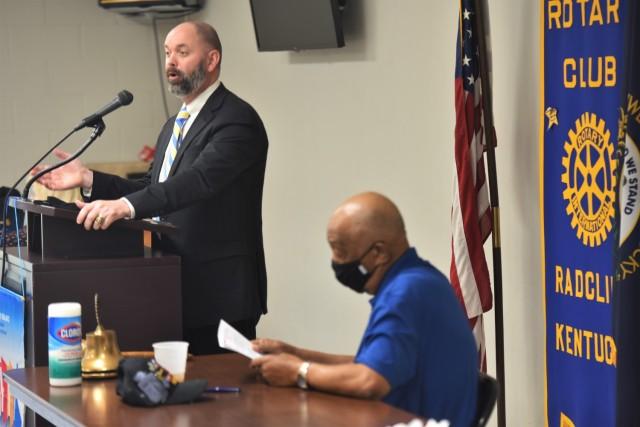 Fort Knox Garrison deputy speaks at Radcliff Rotary Club meeting