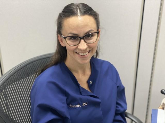 Sarah Vasquez is a Bayne-Jones Army Community Hospital  registered nurse.