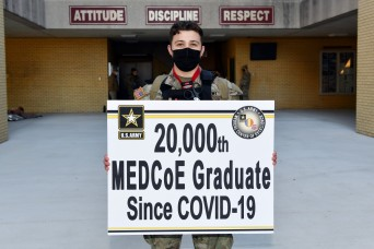 20,000th Soldier graduates MEDCoE under COVID-19 conditions