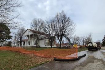 Demolition of Bldg. 430 continues on Fort Leonard Wood