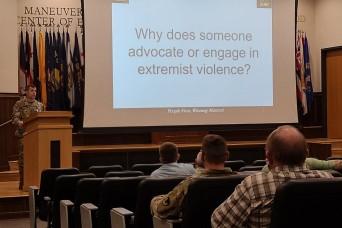 Fort Leonard Wood units stand-down to address violent extremism