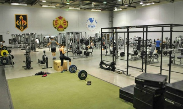 Specker Gym is known as the installation's premier weight-training facility and is the site of several past power-lifting competitions.