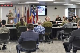 USASAC team hosts foreign defense attachés