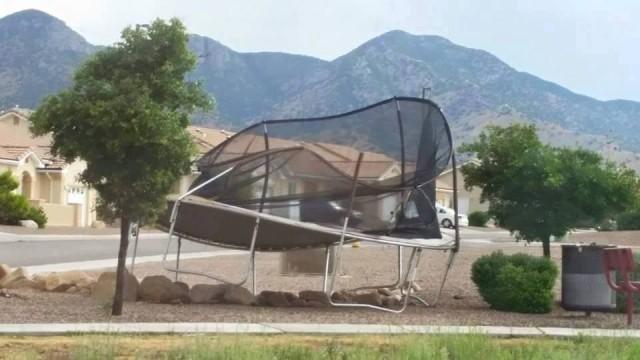 Windstorms win versus backyard trampolines