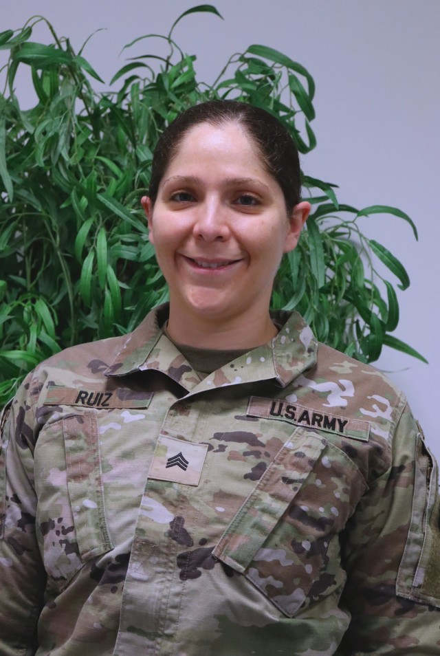 U.S. Army Sgt. Martha Esther Ruiz, assigned to the 2d Squadron, 2d Cavalry Regiment, shares her thoughts and experiences in Vilseck, Germany, March 23, 2021 in observance of Women's History Month. Ruiz is a unit information technology specialist. (U.S. Army photo by Spc. Mark Bruno)