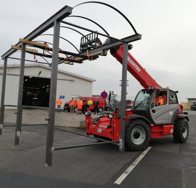 The U.S. Army Garrison Wiesbaden Directorate of Public Works is busy with their area beautification projects, from building walkways and bus stops to replacing old wooden panels with modern perforated metal panels on existing gazebos.