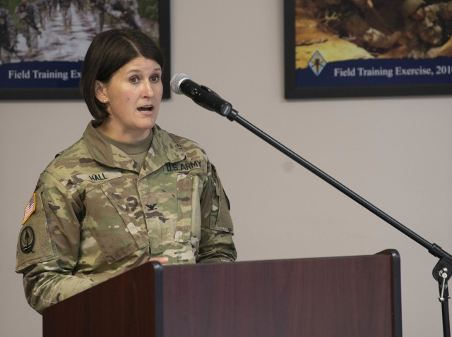 Col. Tara Hall, Moncrief Army Health Clinic commander, provides updates to COVID-19 vaccinations during the virtual Community Town Hall March 18. Hall and others provided the community updates to various programs and facilities on post.