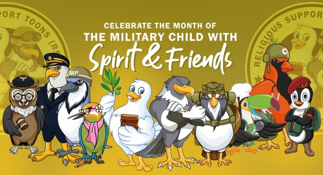 Celebrate the month of the military child with Spirit & Friends
