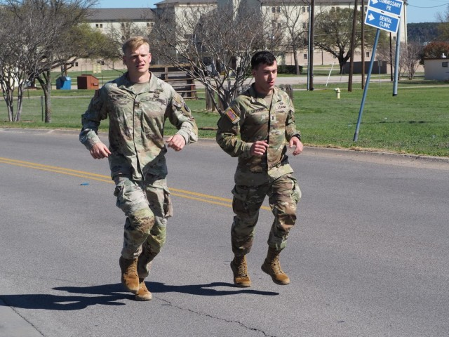 1st Lt. Brian Billings from 2nd Squadron and 1st Lt. Nick Layden from 4th Squadron, 3rd Cavalry Regiment, have covered over 400 miles the past two months collectively during their train up for the Best Ranger Competition. The competition runs from April 11-16 at Fort Benning, Georgia. (U.S. Army photo by Pfc. Johnathan Touhey)