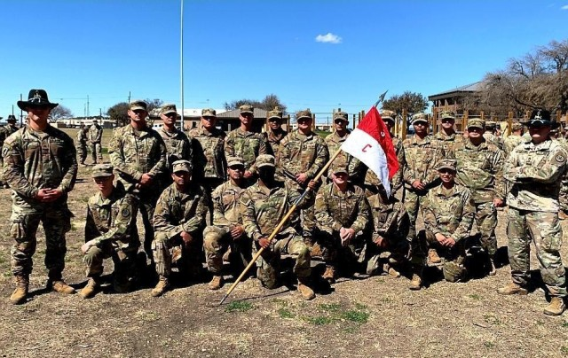One of 1st Lt. Maria Egger's most memorable moments with the 3rd Cavalry Regiment has been the Spur Ride that she completed recently as Platoon Leader with 1st Platoon, Crazyhorse Troop, 1st Squadron. (U.S. Army Courtesy photo)