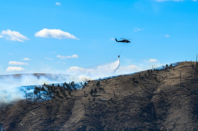 South Dakota National Guard battles fire from air and land