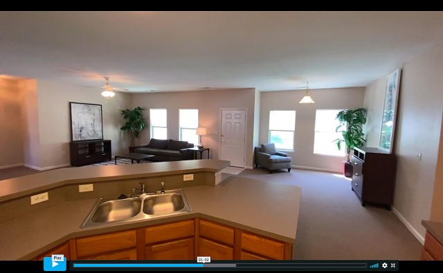 Fort Leavenworth Frontier Heritage Communities has videos available to show potential residents floor plans of available on-post housing, such as this Americans with Disabilities Act-compliant home in Kickapoo Village. Screenshot