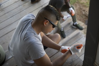 25th Combat Aviation Brigade soldiers volunteer with Habitat for Humanity to give back to the community