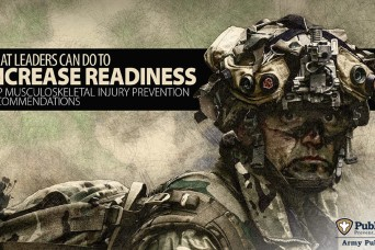 New Army leader guide offers strategies for reducing Soldier injuries