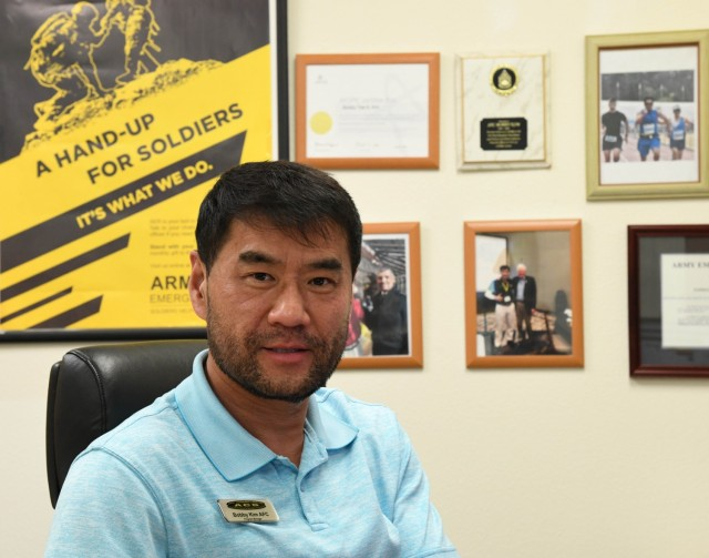 Presidio of Monterey AER Officer Bobby Kim helps service members and their families find support with AER.