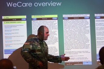 Fort Sill trainees introduced to 'WeCare' app