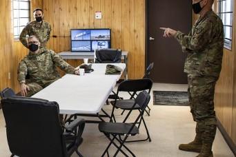 VIPs watch missile alert test